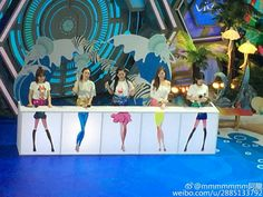 "Jessica Jung filming the chinese Show ""Happy Camp"""