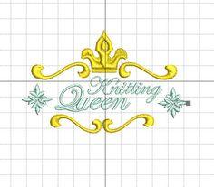 Stickdatei Knitting Queen