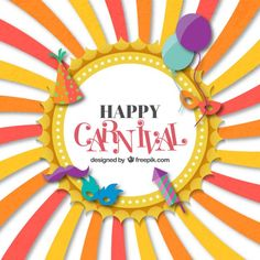 Funny Carnival Card Free Vector