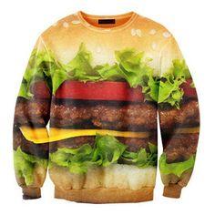 Moletom para quem gosta de um bom hambúrguer :)