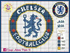 Chelsea Logo, Chelsea Fc, Logo Club, Chelsea Soccer, Cross Stitch Patterns, Crochet Patterns, Soccer Logo, Chicago Cubs Logo, Hama Beads