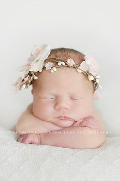 Beautiful newborn headband prop