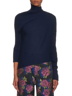 Draped-front ribbed wool-knit sweater | Marques'Almeida | MATCHESFASHION.COM UK