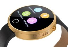IMacwear i6 IP67 Waterproof Smart Watch – Bluetooth 4.0, MTK2502A-ARM7, G-Sensor, Android iOS App (Gold) - Mobile Shop