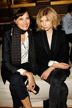 Inès de la Fressange and Clémence Poésy at Stella McCartney