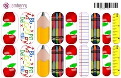 """Jamberry Nails Nail Art Studio Back to School Nails. For more designs nerissa.jamberrynails.com  """"Like"""" my FB fan page! https://www.facebook.com/pages/Nerissa-Jamberry-Nails-Independent-Consultant/531764500218828"""