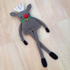 Amigurumi Crochet PDF Pattern for Christmas Reindeer Doll. L3.80 for pattern 11/14.
