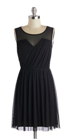 This is a little black dress, i like how it has mesh inserts up the top