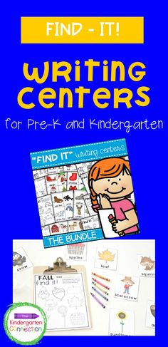 """Your kids will LOVE these 32 themed sets of writing centers for the early childhood classroom! These writing activities are designed specifically for early childhood with both Pre-K and Kindergarten students in mind, as an introduction to """"Write the Room"""" that focuses on vocabulary and coloring. Kindergarten Writing Activities, Early Childhood, Kids Learning, Classroom, Student, Class Room, Infancy, Childhood"""