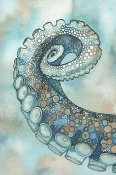 Octopus Tentacle Arm 4 x 6 print of hand by DeepColouredWater, $5.00