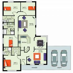 Pin by Melissa Prunty on Narrow Block House Plans | Pinterest ...