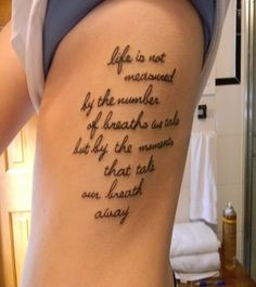 35 Adorable Tattoo Quotes For Girls | CreativeFan - I like some of the placement ideas