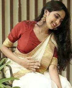 Onam Saree, Cinema, Sari, My Style, Hot, Instagram, Women, Places, Sweet