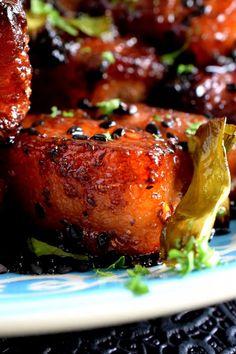 Easy Baked Pork Belly - Easy Baked Pork Belly – Lord Byron's Kitchen - Fried Pork Belly Recipe, Pork Bowl Recipe, Pork Belly Recipes, Pork Bacon, Baked Pork, Crispy Pork, Pork Riblets, Riblets Recipe, Kohlrabi Recipes