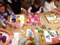 Making Collages at The Tom Peyton Memorial Arts Festival/ The Eric Carle Museum of Picture Book Art/ Studio Blog