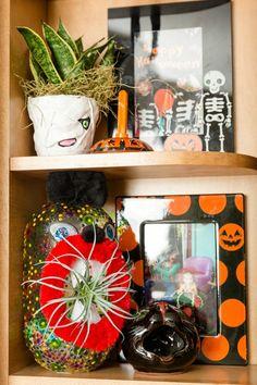 Shelf full of DIY Ha