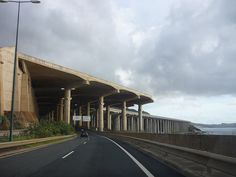 A street goes under the runway at the airport in Madeira, an island that is an autonomous region of Portugal. Instead of filling in a runway extension, the runway was extended over the ocean using columns.
