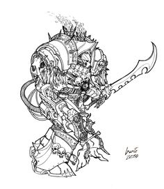 chaos greyall night_lords sketch space_marines sword terminator