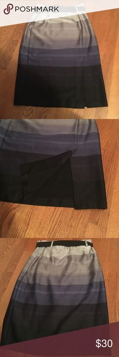 Pencil Skirt Gray, black, and navy pencil skirt from Dress barn. Only worn once or twice to work Dress Barn Skirts Pencil