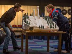 "Taron Egerton and Hugh Jackman in ""Eddie The Eagle"""