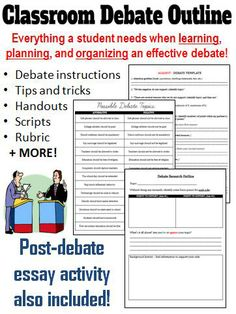 Host a friendly classroom debate with your students. This activity can be incorporated into any subject area that requires students to have a comprehensive understanding of a particular topic. A fun activity for all involved, and a great way to get students talking! #Debate #HighSchoolEnglish