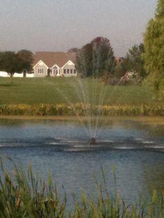 My lake fountain