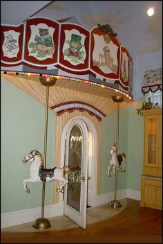 carnival theme wall decals | Carousel theme bedroom decorating ideas and carousel horse theme decor