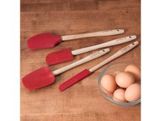 Red 4-pc. Silicone Spatula Set by CHEFS at Cooking.com
