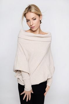 https://www.cityblis.com/6462/item/16809  Creamy Woolen Asymmetric Sweater - $149 by LeMuse    When you dress LeMuse sweater you feel warm and cozy. LeMuse hides all imperfections and makes you perfect.  LeMuse sweater is made from wool. So gives you warm and cozy feeling.  You can dress it according your mood and phantasy.  It could be smaller or larger size, but please write a not...