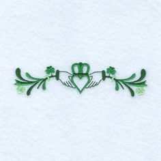 Starbird Inc Embroidery Design: Irish Claddagh Line 1.23 inches H x 4.98 inches W