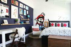 A fabulous tween bedroom reveal from Katja at Shift Ctrl Art