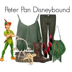 """Peter Pan Disneybound"" by capamericagirl21 on Polyvore"