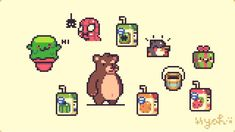 How To Pixel Art, Pixel Art Background, Pixel Drawing, 8 Bit Art, Pixel Art Templates, Pixel Design, Pixel Art Games, Pokemon, Cute Drawings