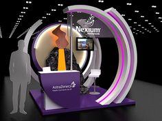 Nexium booth on Behance Exhibition Stall, Exhibition Stand Design, Exhibition Display, Pop Design, Stage Design, Stand Feria, Kiosk Design, Showroom Design, Design Museum