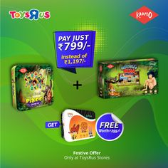 Special Discount Sale! Buy Combo #Offer of Disney The Jungle Book Pixoo + Disney Mowgli's Run board games worth 𝐑𝐬 898 now only at  𝐑𝐬 799 and get a Jodi Joy card game worth  𝐑𝐬 299 absolutely free.  Only at #ToysRus Stores Locations: - Phoenix Marketcity, Bangalore - RMZ Bangalore - Vega City, Bangalore - Phoenix Marketcity, Chennai - Marina Mall, Chennai - Phoenix Marketcity, Pune - Seasons Mall, Pune - City Centre, Mangalore - Mahagun Metro Mall, Ghaziabad - Y Mall Triprayar, Kerala Online Games For Kids, Animal Games, Disney Movies, Card Games, Joy, Books, Cards, Stuff To Buy, Disney Films