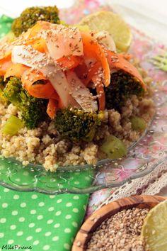 mlle prune: Salade de quinoa, boulgour et petits légumes