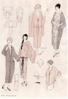 Vintage Sewing Pattern Instructions Flapper Easy Neglige R Vintage Outfits, Robes Vintage, Vintage Fashion, Vintage Dresses, Fashion 1920s, Vintage Prom, Vintage Hats, Victorian Fashion, Moda Vintage