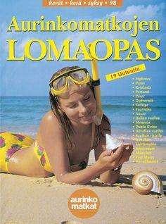 #Aurinkomatkat lomaopas kevät, kesä, syksy 1998 #retro Menorca, Paros, Fort Myers, Retro, Retro Illustration, Mid Century