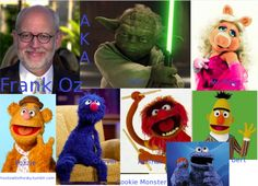 Frank Oz and some of his characters.