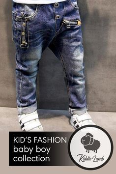 Item Type: Jeans Pattern Type: Solid Fit Type: Regular Wash: Light Gender: Unisex Closure Type: Elastic Waist Fit: Fits true to size, take your normal size Style: Casual Waist Type: Mid Baby Boy Fashion, Kids Fashion, Trendy Jeans, Patterned Jeans, Trendy Kids, Boys Pants, Cute Tshirts, Best Sellers, Lamb