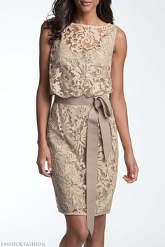 gorgeous nude lace dress