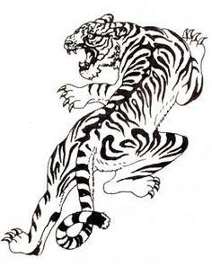 black and white tiger tattoos | Black & White Tiger