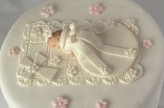 CHRISTENING CAKE TOPPER Baby Girl First by BabyCakesByJennifer, $35.00