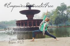 Tomorrow morning, Brooke Boon - founder of Holy Yoga - is leading a class on Periscope as we wrap up the #EmpowerRestoreSetFree campaign.  Skip the drop in yoga class you were planning to go to  and gather a group of friends to practice with Brooke!  Then you can donate the money you saved by skipping class and give towards #HolyYogaInternational instead:)  Download the Periscope app today (if you don't already have it) and find @BrookeBoon