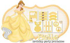 Imprimible gratis de Bella - Decoración para fiestas de princesas | DEF Deco - Decorar en familia