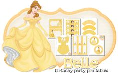 Belle Birthday Party Freebie | Peonies and Poppyseeds