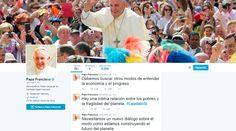 """Laudato Si': Papa Francisco resume su encíclica en Twitter 18/06/2015 - 10:07 pm .- Este jueves 18 de junio fue presentada la encíclica del Papa Francisco Laudato Si' que lleva como subtítulo """"Sobre el cuidado de la casa común"""". Con su publicación de tuits sobre este documento en twitter, el Santo Padre se convierte en el primer Pontífice que """"resume"""" un documento de este tipo en la red social."""