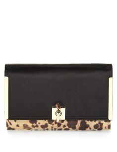 M&S Collection Leopard Print Clutch Bag