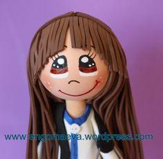 Peinado : Enfermera con pelo largo y liso con flequillo, hecho con goma eva   ---   Nurse long straight hair with a fringe, with paper eva http://engomaeva.wordpress.com/