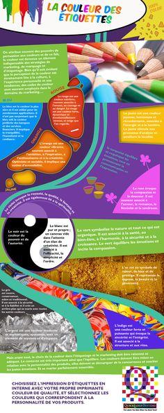 La couleur des étiquettes par QuickLabel  -  Cette infographie vous est présentée par http://www.quicklabel.fr/,  l'un des principaux fabricants d'imprimantes d'étiquettes couleur de qualité pour des étiquettes colorées et attractives.